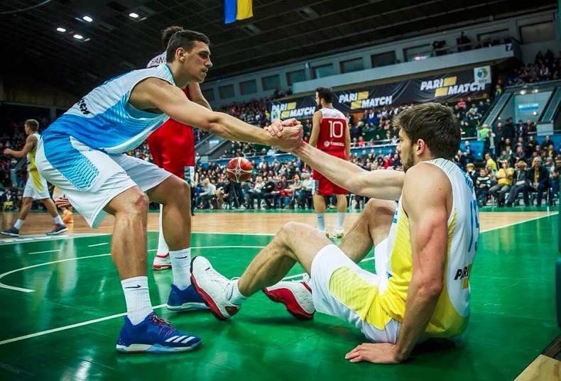 Во время игры Украина - Турция. Квалификация Чемпионата мира по баскетболу 2019