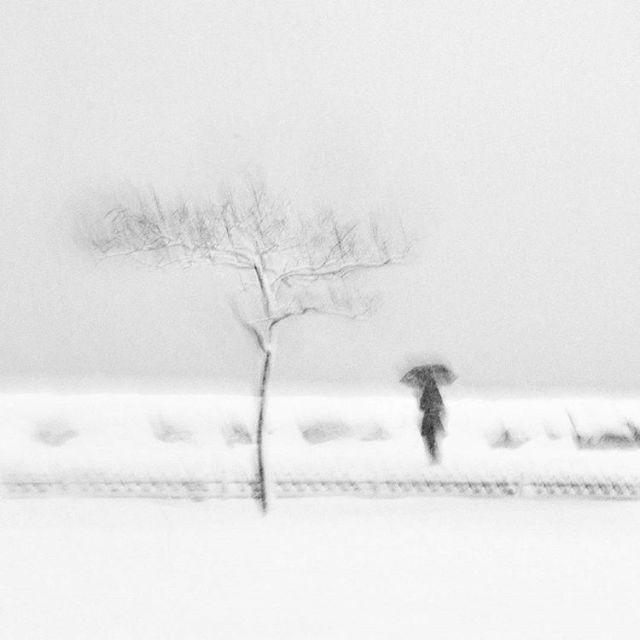 14 - снег за окном