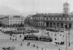 Знаменская площадь, Николаевский вокзал. 1910-1913 гг.