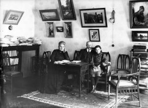 Павел Милюков с членами семьи, 1912