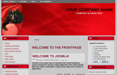 Joomla Template Cat