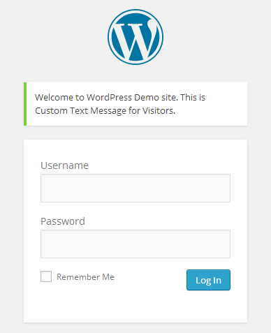 WordPress-Demo-Log-In