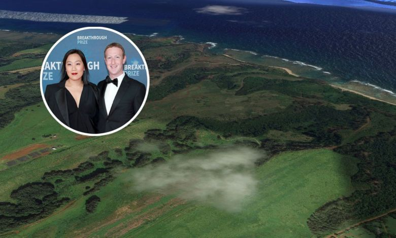Pricilla Chan and Mark Zuckerberg bought nearly 600 acres of land on the Hawaiian island of Kauai for $53 million. Google Maps / Getty Images