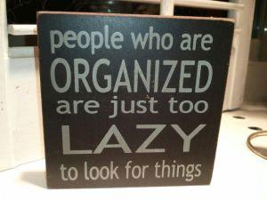 Lazy Organizer Plaque - Professional Organizer