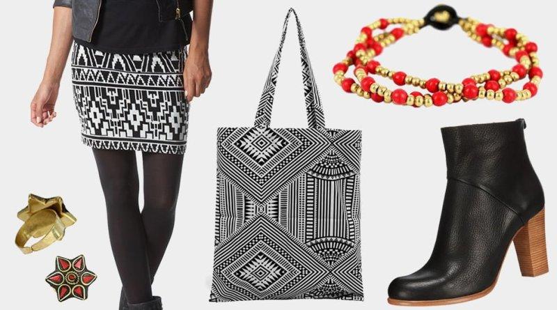 Vêtement accessoires femme aztèque tendance