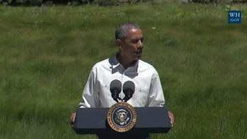 Obama Insists: Rising Seas Could Swallow Statue Of Liberty