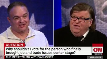 EPIC! Chrysler Worker Shuts Michael Moore Up (Video)