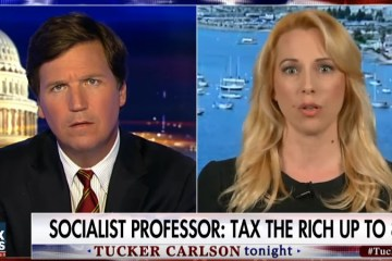"Tucker Carlson Annihilates Socialist Professor & Leaves Her Stuttering: ""Wealthy Should Pay 80% Taxes"" (Video)"