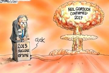 Political Cartoon: Nuclear Reaction