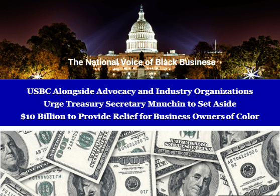 Letter Urging Treasury Secretary Mnuchin to Set Aside $10 Billion to Provide Relief for Business Owners of Color