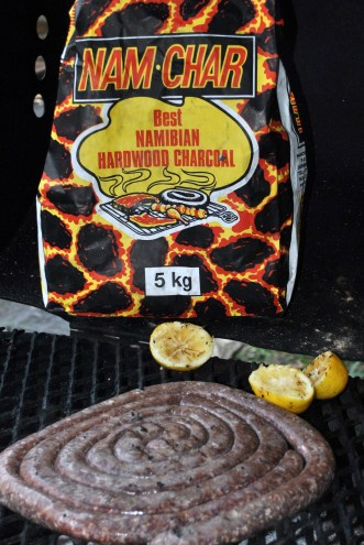 Boerewors and charcoal...