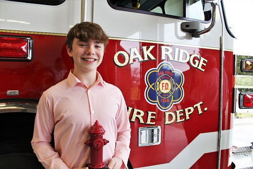 ORFD Recognizes teen for quick thinking and saving his home