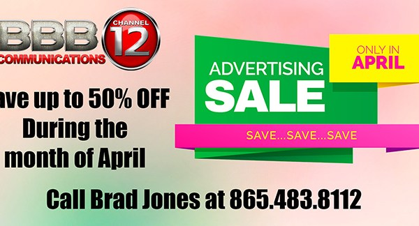 Advertising Special!!!  For the Month of April, advertising is 50% Off!