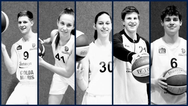 Einberufen zum Nachwuchsnationalteam, v.l.n.r.: Fran Selakovic, Iva Sanseovic, Chiara Pavitsits, Lukas Knor, Emil Frantsich