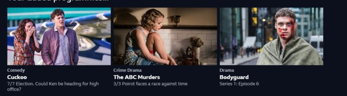 Wow, you can stream The ABC Murders on the BBC website