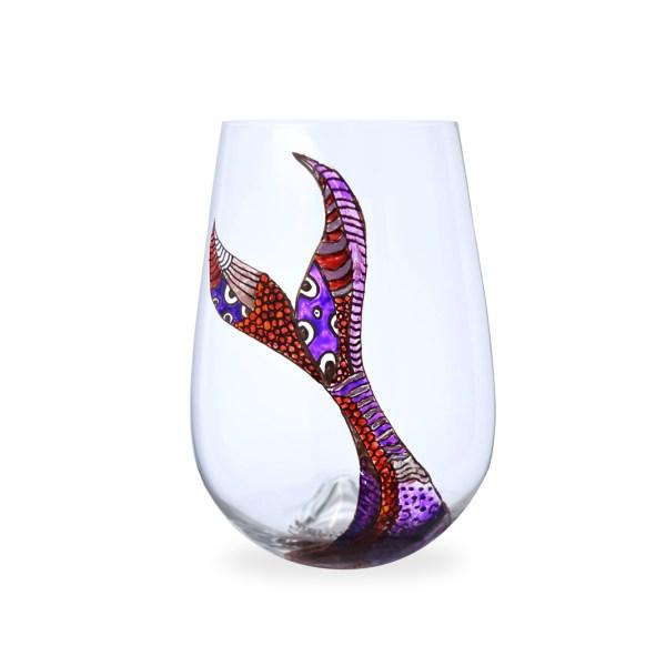 Hand painted mermaid purple