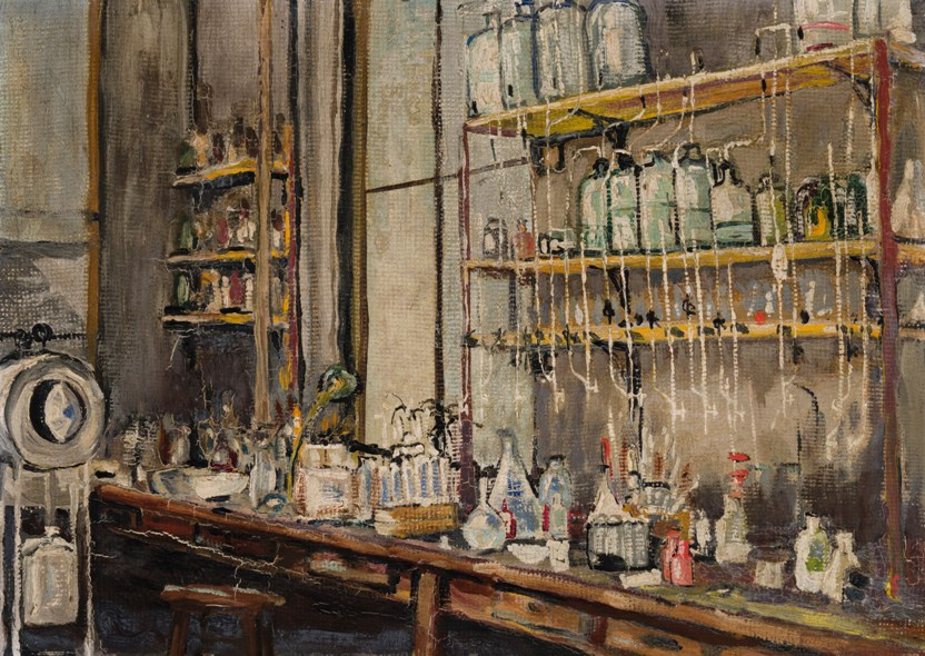 The Lab. Painting by Frederick Banting.