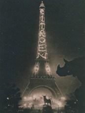 1925 год. На Эйфелевой башне Андре Ситроен размещает гигантскую иллюминацию с названием своей кампании. Она провисит там семь лет.