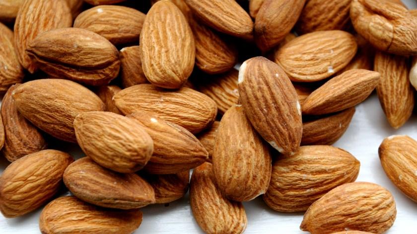 almonds peeling nails oil