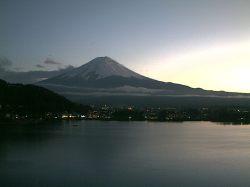 富士山・河口湖(2010年11月18日17:00)