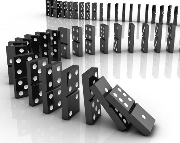domino effect, dominoes falling