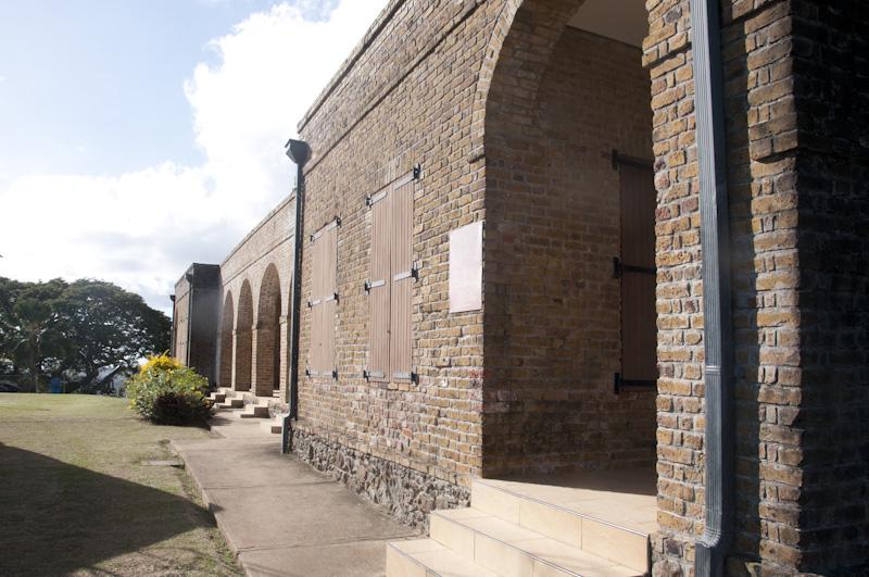 Barracks at Fort George, Scarborough, Tobago.