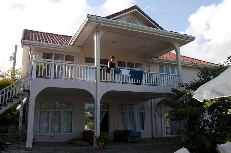 Carol on the villa deck.