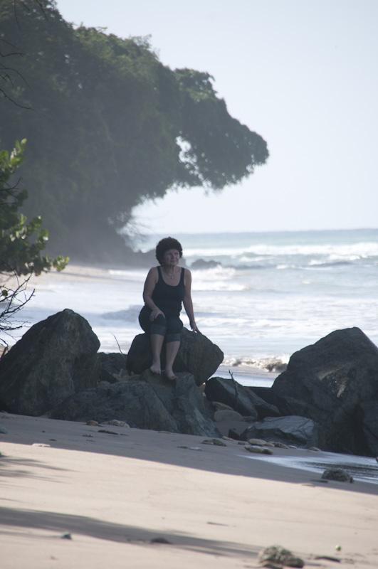 Carol, thinking on the beach, Day 1.
