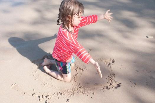 Eloise on the beach.