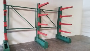 Cantilever racking, Roll form cantilever, Single sided cantilever