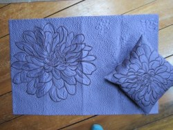 #16 - Purple Satin Wall Hanging & Pillow