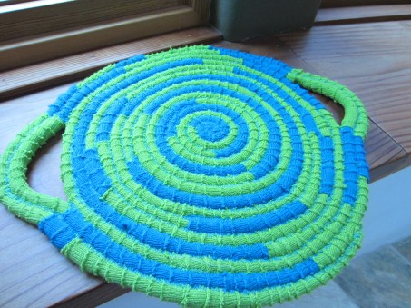#1 - Coiled Fabric Trivet with handles