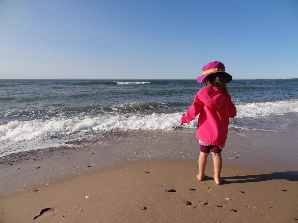 photo, fille, plage