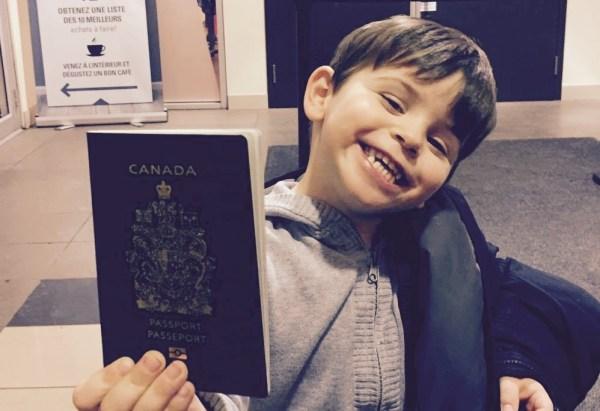 Passeport d'urgence express canadien pour enfant