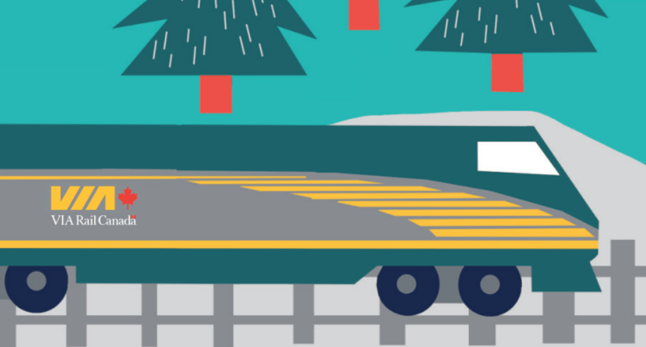 Train en famille Via Rail avec enfants