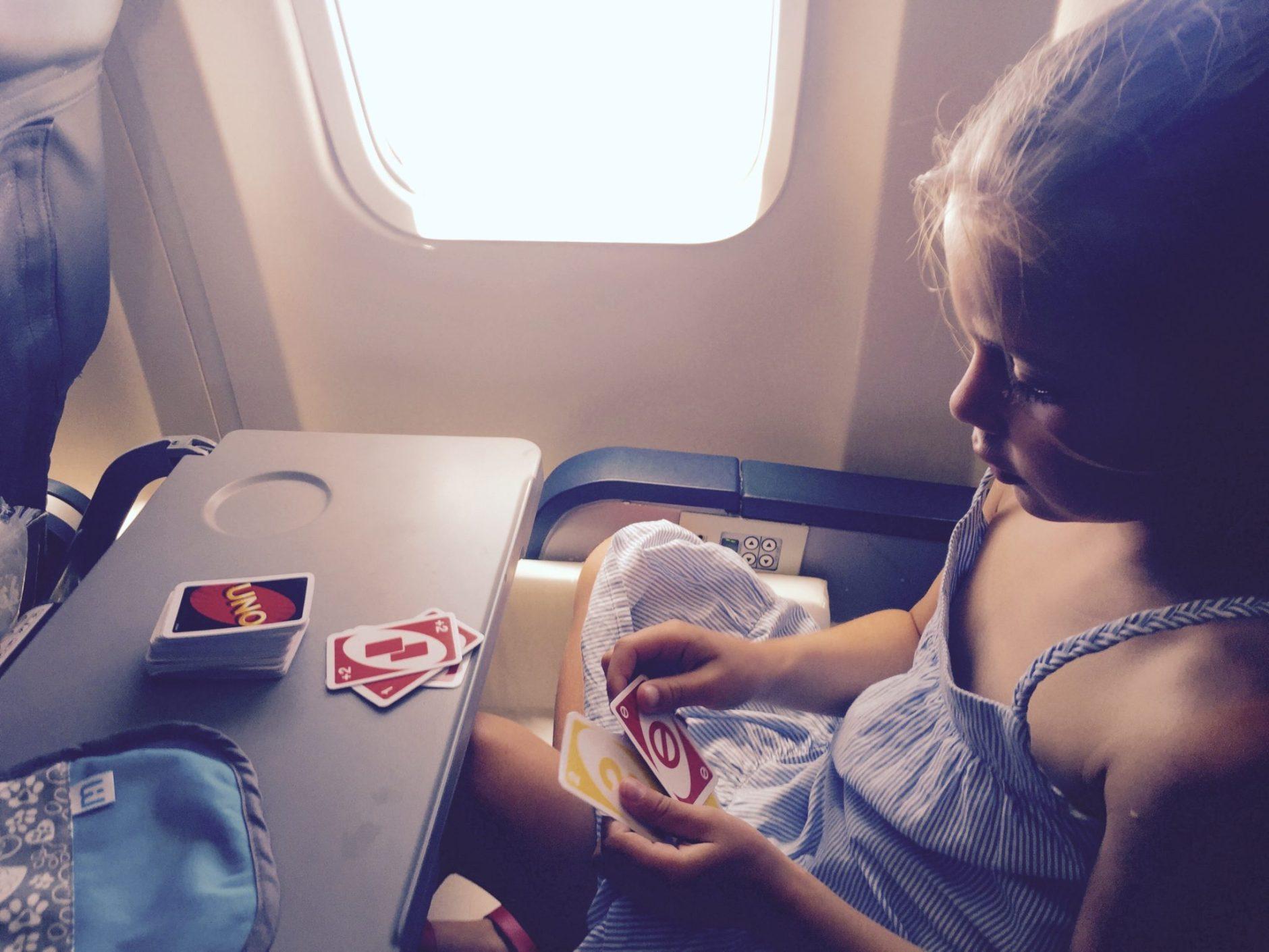Idées de jeux pour enfants dans l'avion