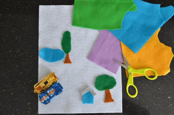 Idee de jeux de voyage pour enfants, une piste de course