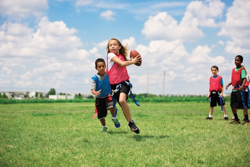 Image of people participating in a Y sports program
