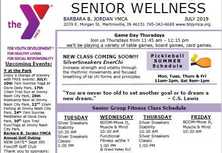 July 2019 Senior Newsletter
