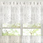 Hopewell Heavy Floral Lace Kitchen Window Curtain 12 X 58 Valance Ebay
