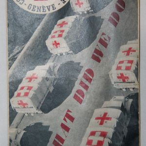 I049. POST WWII RED CROSS BROCHURE FOR CONCENTRATION CAMP RELIEF