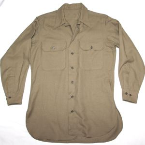 D078. WWII WOOL FLANNEL COMBAT FIELD SHIRT