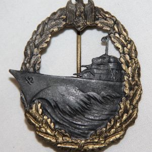 Q006. WWII KRIEGSMARINE DESTROYER WAR BADGE