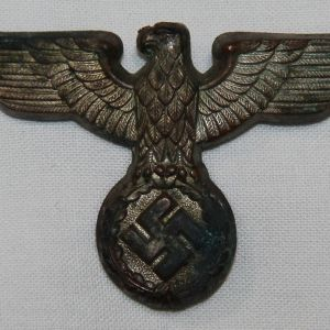 P015. WWII GERMAN SA-POLITICAL VISOR CAP EAGLE