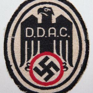 O.121. WWII GERMAN DDAC SPORTS SHIRT INSIGNIA PATCH