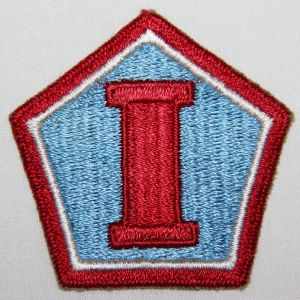 "G157. WWII FIRST ARMY GROUP RED ""I"" VARIENT PATCH"
