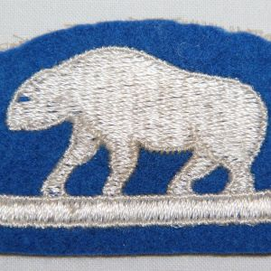 G166. WWII ERA PATCH KING NORTH RUSSIA PATCH