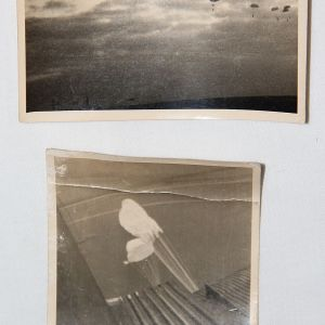 R083. 2 WWII GERMAN PARATROOPER PHOTOGRAPHS WITH NOTATIONS
