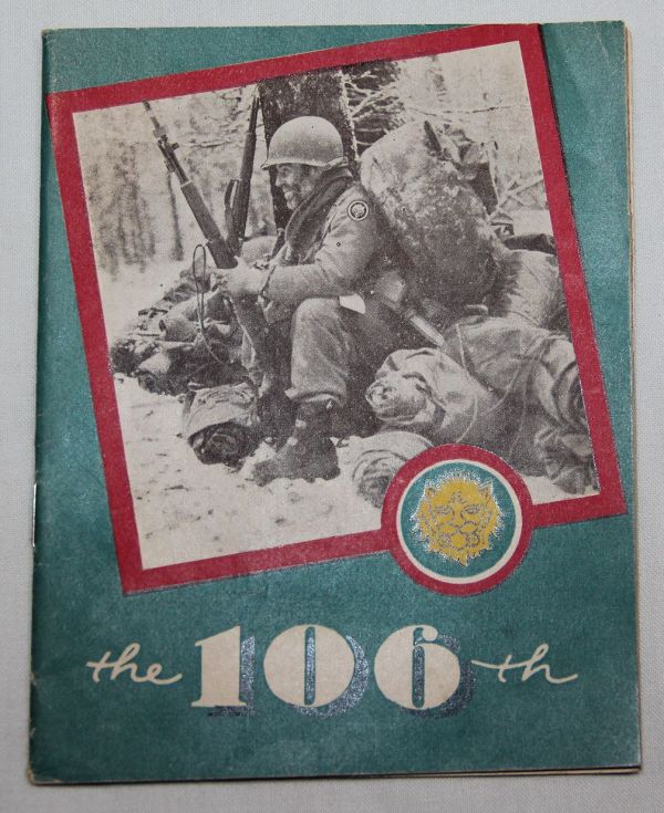 J008. WWII 106TH INFANTRY DIVISION POCKET SIZE UNIT HISTORY