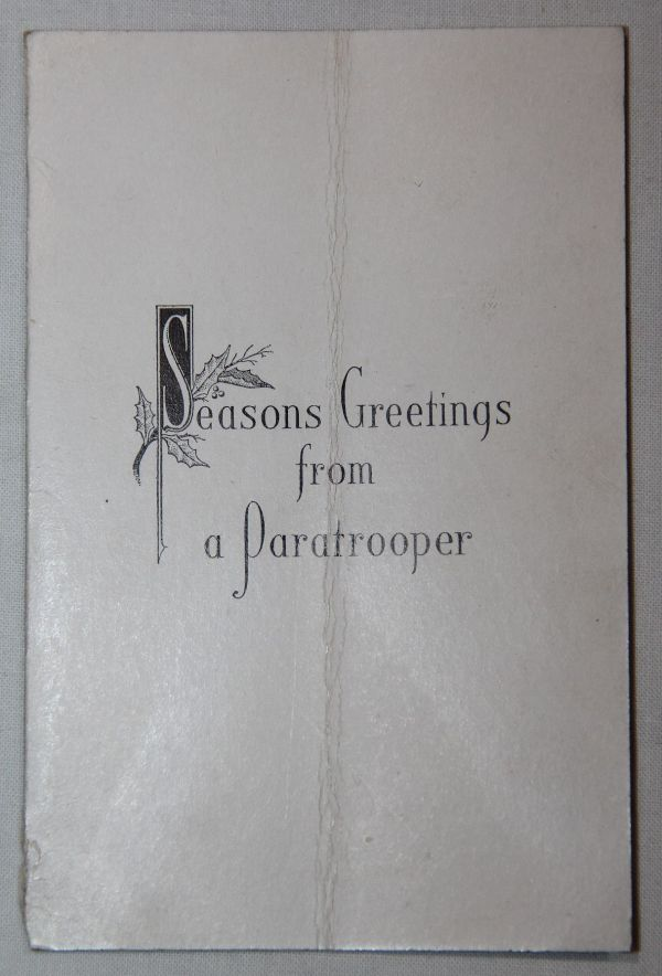 I008. WWII PARATROOPER CHRISTMAS CARD